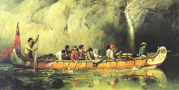 The Voyageurs Paddlers Traders Explorers Of Wilderness