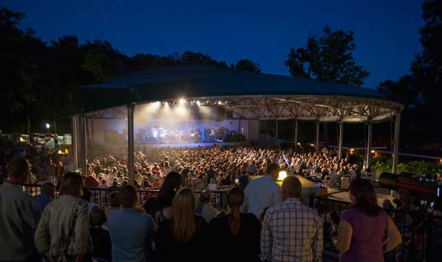 The Ferro Pavilion at George Williams College of Aurora University, in Williams Bay, Wis., is usually packed for Music by the Lake concerts. (Music by the Lake photo)