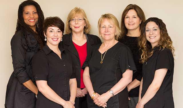The team at InnovaMed (left to right): Deb Marks, Tina Gipson, Dr. Linda Razbadouski, Dr. Tracy Brito, Dr. Susan DeGuide and Sarah Ramirez.