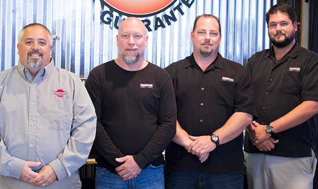 Owners Tom Priola and Eric Brostrom, along with Dirk Dutton and Keegan West. (Samantha Ryan photo)