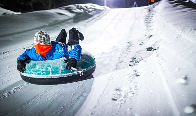 Wisconsin has many downhill ski areas, and many of those also offer snow tubing. (Travel Wisconsin photo)
