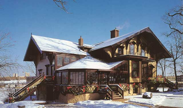 """Tinker Swiss Cottage, festively decorated, is one of three museums in Rockford collaborating to present """"Holiday Happenings,"""" the cultural event of the season, on Dec. 14."""