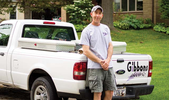 Rich Gibbons launched Gibbons Electric with brother Pat in 1999, and assumed the residential side of business in 2001.