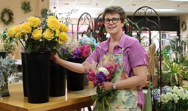 Business owner Becky Baeverstad at work in her Edgebrook shop. (Blake Nunes photo)