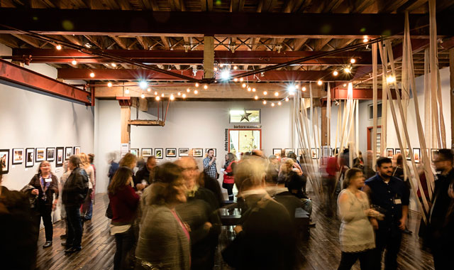 Held every month from January through August, 4th Friday draws hundreds of visitors to Harvard's Starline Factory for a one-night-only juried art show.