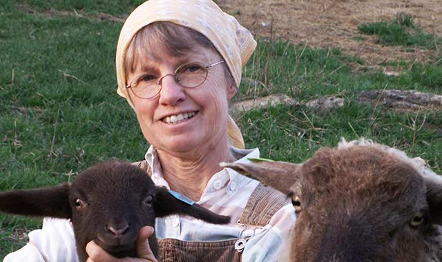 """Linda Dee Derrickson managed many business ventures before her """"itchy feet"""" took her back to her farm roots. Today she's as content as the  wooly friends who keep her company."""