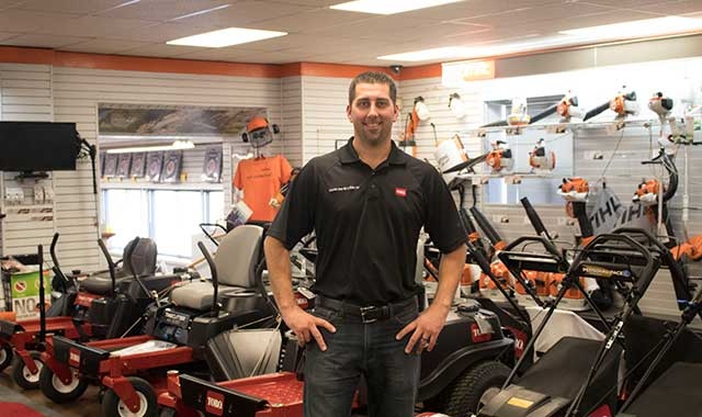 Tim Kinney and the team at Lincoln Rent-All & Sales in Rockford can help customers connect with a variety of brands, including Toro, Stihl and Honda.