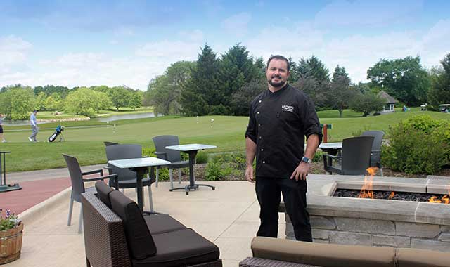 Al Castrogiovanni doesn't have a lot of time to play golf, but at least he can soak up lovely views of the greens at Aldeen Golf Club, the home of Graystone Grill.