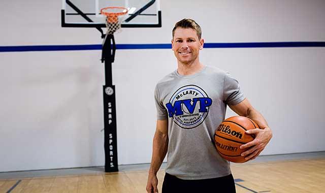Danny McLarty at his MVP Training facility in Roscoe, Ill.