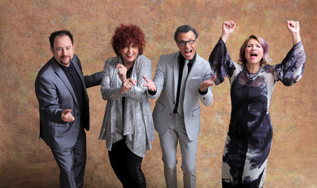 The lively and colorful Manhattan Transfer celebrates its 45th anniversary at Egyptian Theatre, in DeKalb, on Oct. 19.