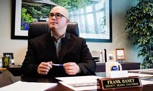 Winnebago County Board Chairman Frank Haney
