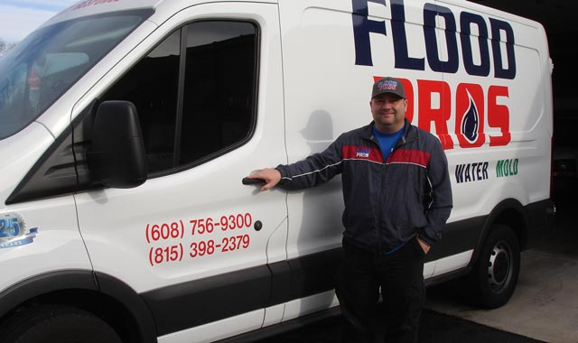 Mickey Bennett is the owner and founder of Advantage Kwik Dry Carpet & Upholstery Cleaning and Flood Pros Disaster Restoration Services, in Machesney Park, Ill. (Toni Rocha photo)