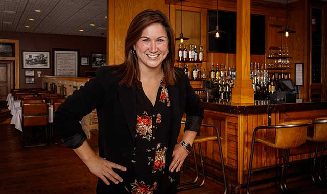 Jayme Braatz, general manager of Merrill & Houston's Steak Joint, in Beloit, strives to provide a cozy and familiar environment to diners.