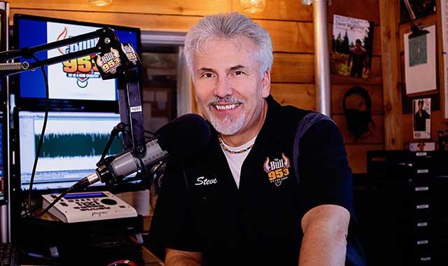 95.3 FM The Bull radio deejay Steve Summers, in the studio.