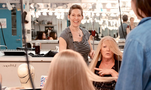 Now a professor at the University of North Carolina School of the Arts, Schanes passes on her knowledge to the next generation of wig builders. She also operates CHRISTALine Studios, where part of her mission is to make free wigs for those affected by medical hair loss.