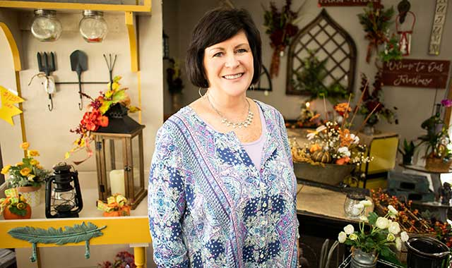 Shirley Crawford, owner of Garden Arts, believes qualities like superb customer service and attention to detail have helped her to build a loyal clientele.